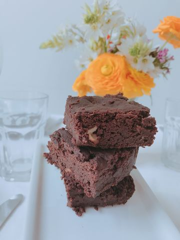 Brownies de porotos negros