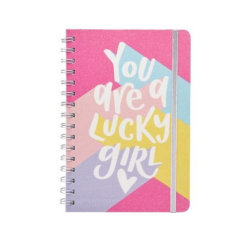 Cuaderno Chico Mooving A5 Glitter Lucky girl
