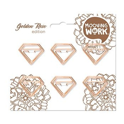 Clips con formas Mooving At Work Golden Rose