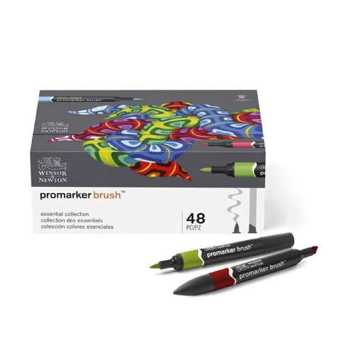 Marcadores Winsor & Newton Brushmarker Set 48 Colores (Promarker Brush)
