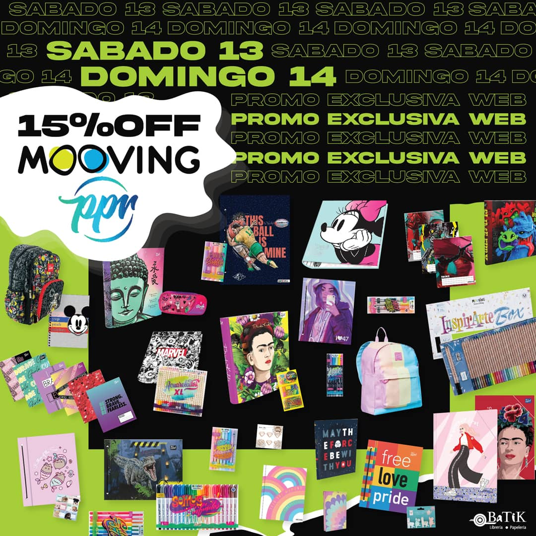 Mooving y PPR 15% OFF