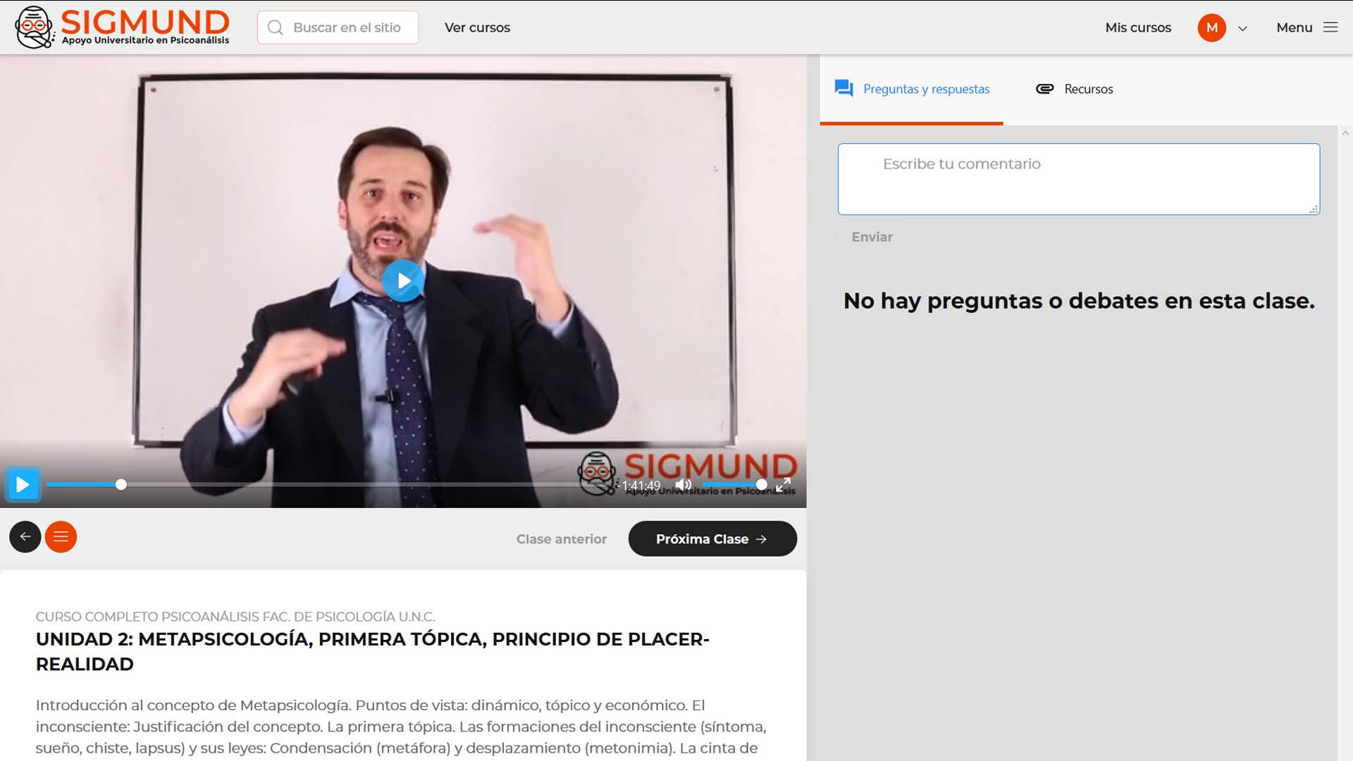 Clase tipo Video